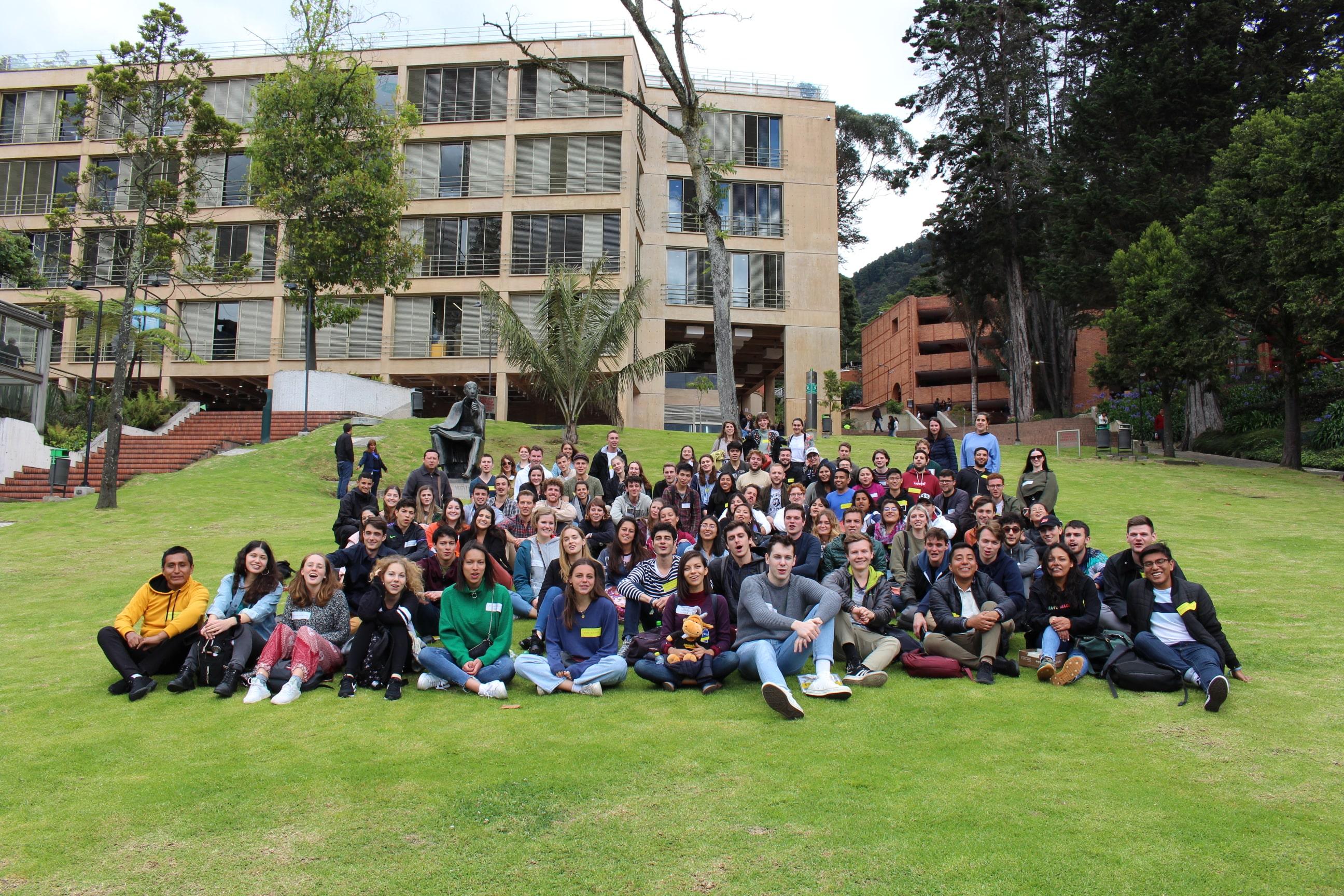 Estudiantes extranjeros de intercambio bienvenida