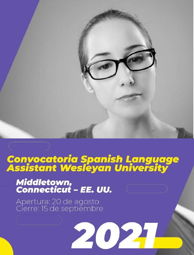 Convocatoria Spanish Language Assistant Wesleyan University