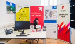 Inauguración del Information Point de Uniandes en la JLU